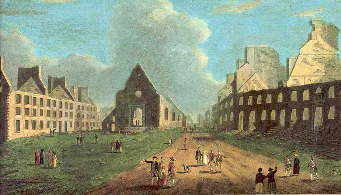 Place Royale and Notre Dame des Victoires Church in 1759