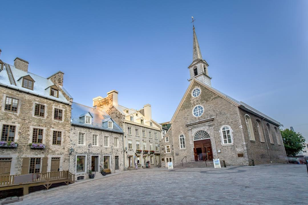 Place Royale and Notre Dame des Victoires Church today